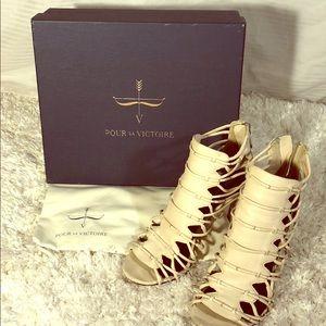 POUR la VICTOIRE Gladiator Strappy heels